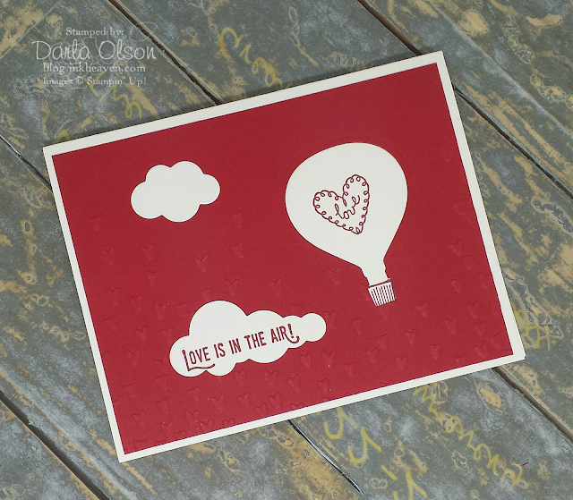 Handmade card created with Stampin' Up! Lift Me Up Bundle shared by Darla Olson at inkheaven