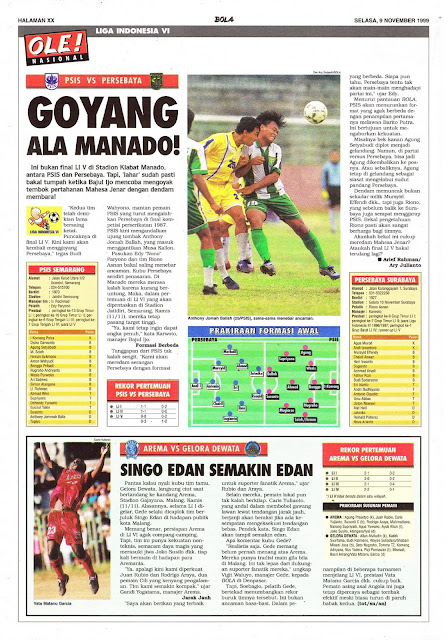 LIGA INDONESIA VI PSIS SEMARANG VS PERSEBAYA