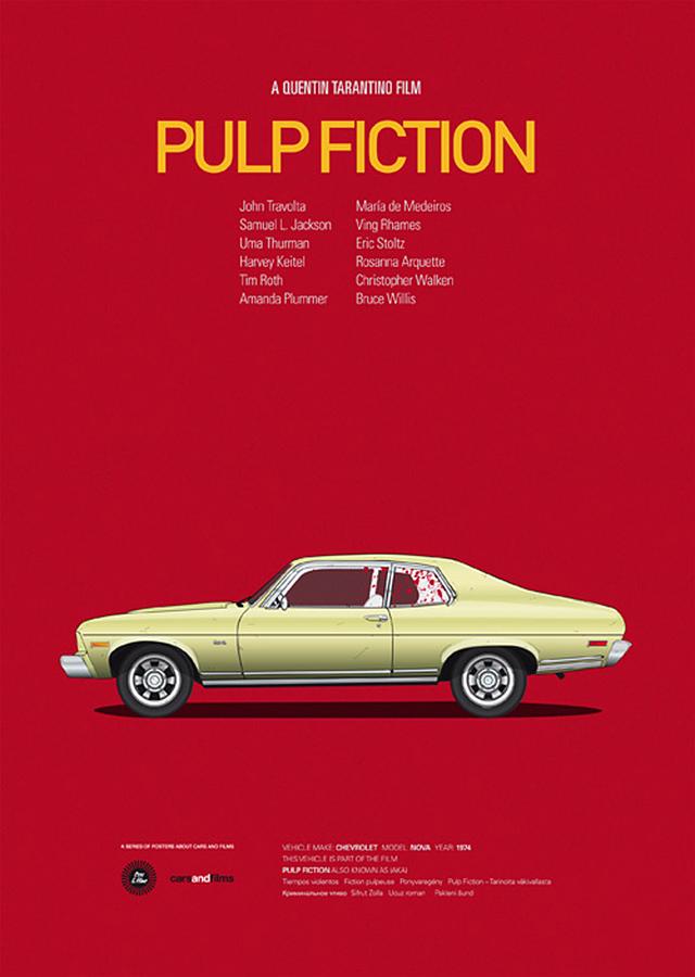 Pulp Fiction Car poster