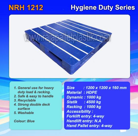 Harga Pallet Plastik Hygiene Duty NRH 1212