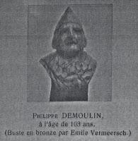 Buste van Philippe Demoulin (1809-1912), dat zich in het Koninklijk Museum van het Leger en de Krijgsgeschienis te Brussel bevind.