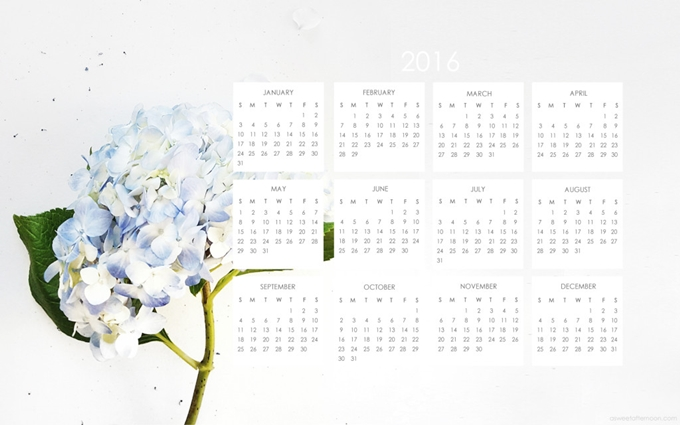http://www.asweetafternoon.com/freebies/happy-2016-2016-calendar-blue-hydrangea-desktop-wallpaper-free-download/