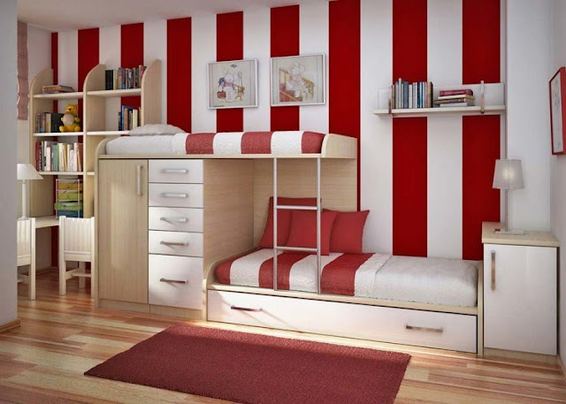 dekorasi kamar anak laki-laki dengan kombinasi warna dinding