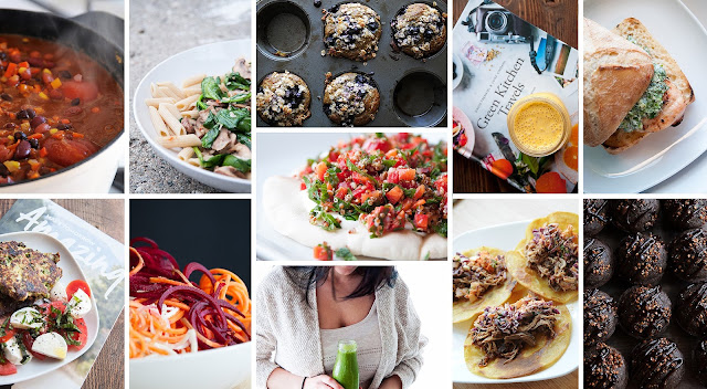 Favorite food blogs to follow are Green Kitchen Stories And I Quit Sugar.