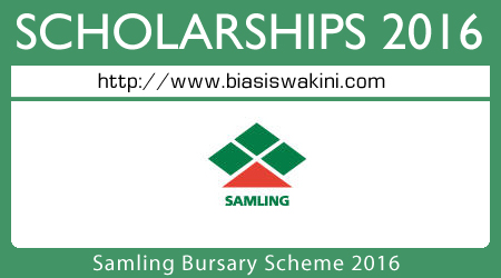 Samling Bursary Scheme 2016