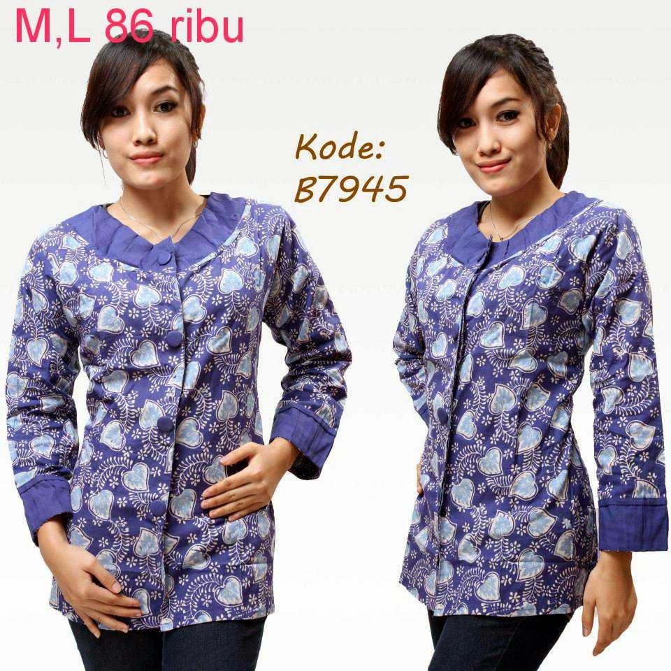 Gambar Baju Batik Hamil Untuk Kerja