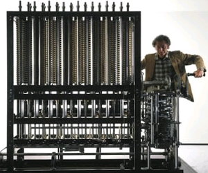 Difference Engine Hasil Rancangan Charles Babbage