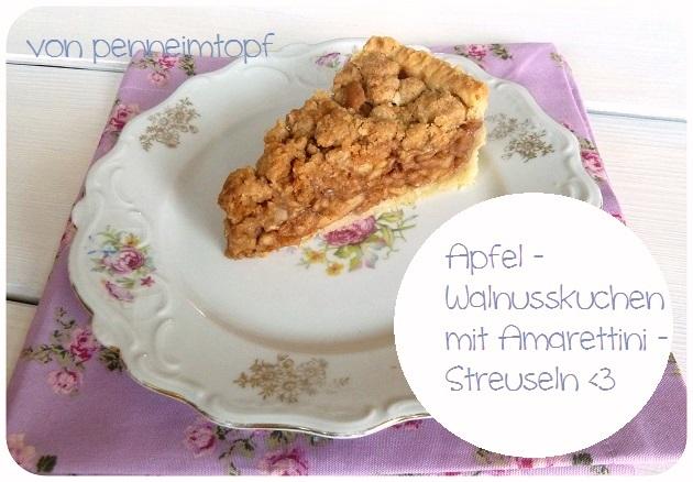 Penne Im Topf Apfel Walnusskuchen Mit Amarettini Streuseln