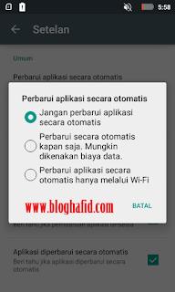 Pembaruan aplikasi secara otomatis