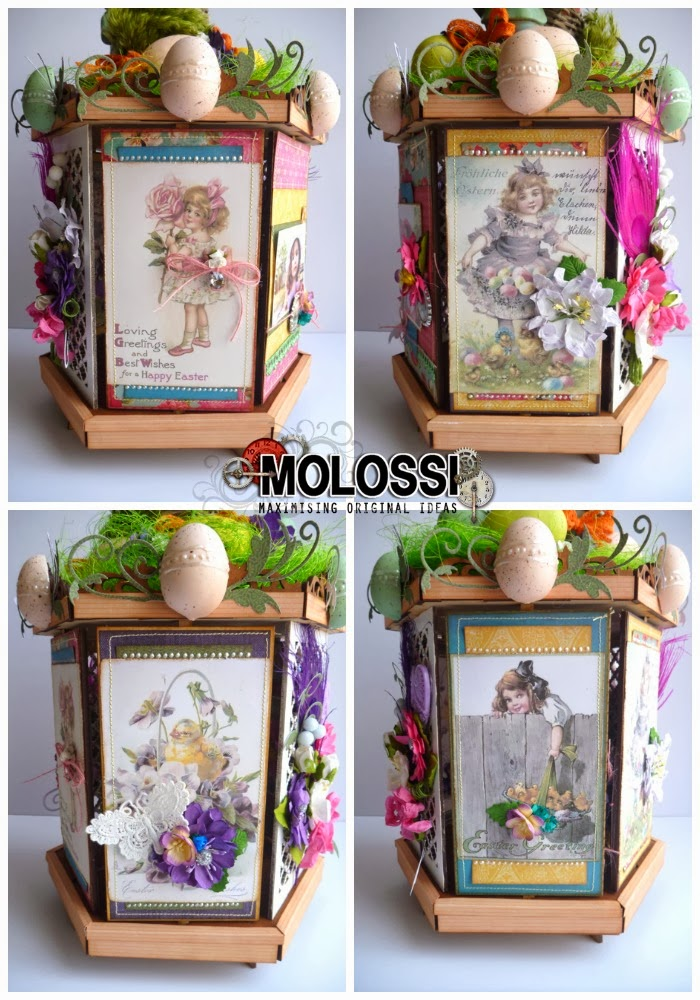 Easter Theme Rotating Clip Art Panels for Dusty Attic Photo Carousel Assembled by Dana Tatar