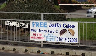 Free Jaffa Cake with every tyre at The Tyre Warehouse in Altrincham