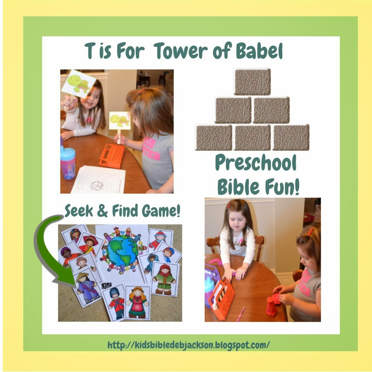 Bible Fun For Kids Preschool Alphabet T Is For Tower Of