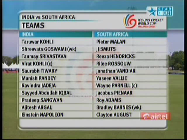 ICC U-19 Cricket World Cup 2008 - India vs South Africa