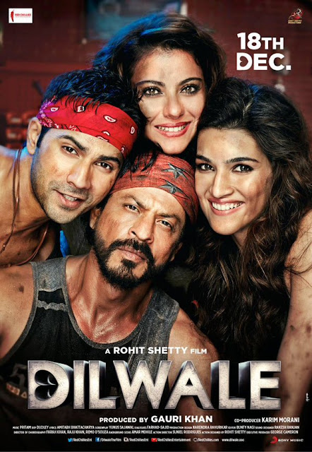 Dilwale, movie poster, directed by Rohit Shetty