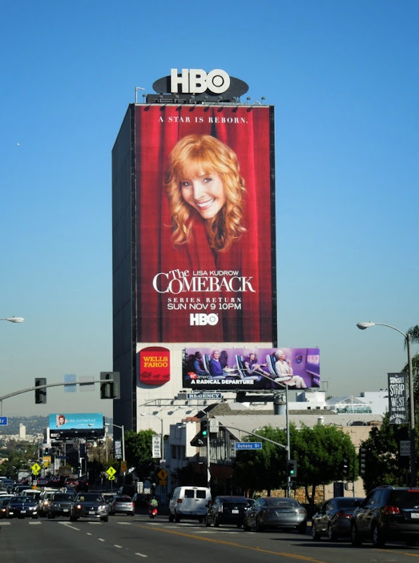 The Comeback season 2 giant billboard Sunset Strip