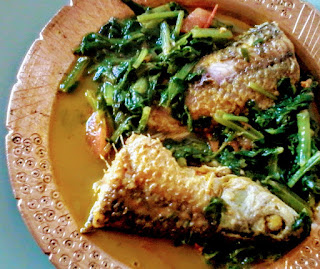 Fish curry with spinach