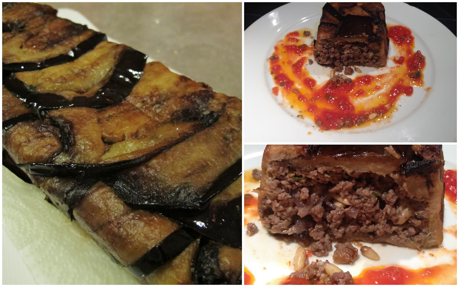 G teau d 39 aubergines la viande le blog de cuisine en bouche - Aubergine a la poele ...
