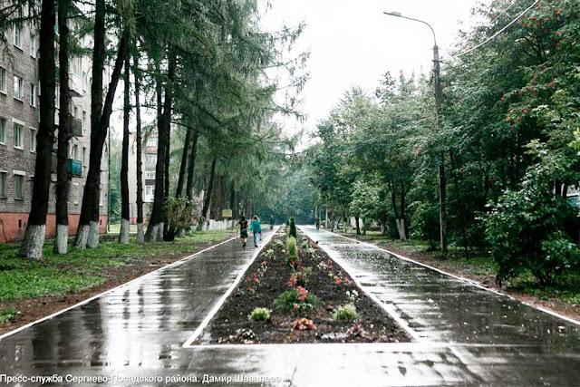 Аллея на улице Карла Либкнехта приобретает законченный вид Сергиев Посад