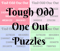 Tough Odd One Out Number Puzzles for Adults with Answers