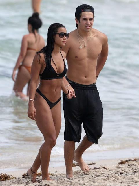 Katya Elise Henry in Black Bikini in Miami