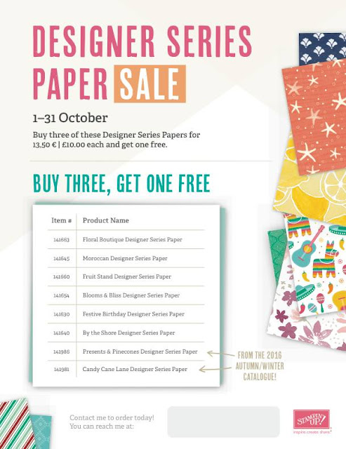 Stampin Up! UK Independent  Demonstrator Susan Simpson, Craftyduckydoodah!, World Card Making Day 2016, Special Offers, Designer Series Paper Sale, Supplies available 24/7,