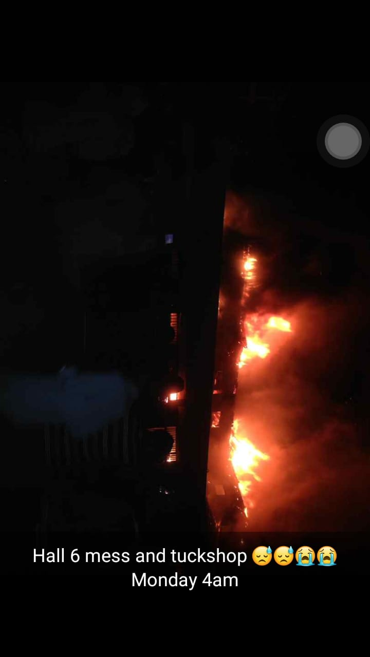 Breaking: Fire Razes Down JKUAT Mess And TuckShops
