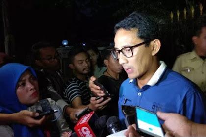 Soal Wacana Wiranto, Sandiaga: Cara Zaman Old Bungkam Para Tokoh