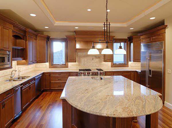 đá trắng sa mạc làm bàn bếp
