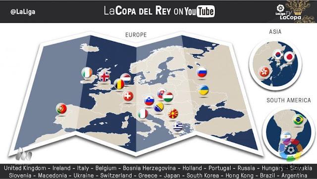 La Liga y Mediapro emitirán internacionalmente la Copa por Youtube