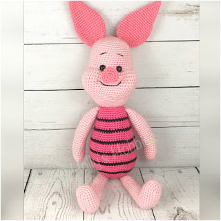 patron amigurumi piglet pig holly's hobbies