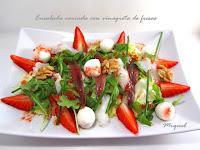 Ensalada variada con vinagreta de fresas para #Ponunaensalada