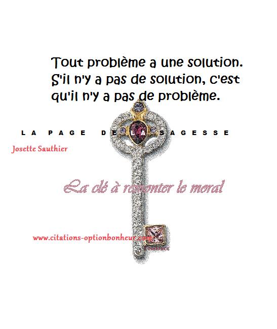 La Page De La Sagesse Citation Tout Problème A Une Solution