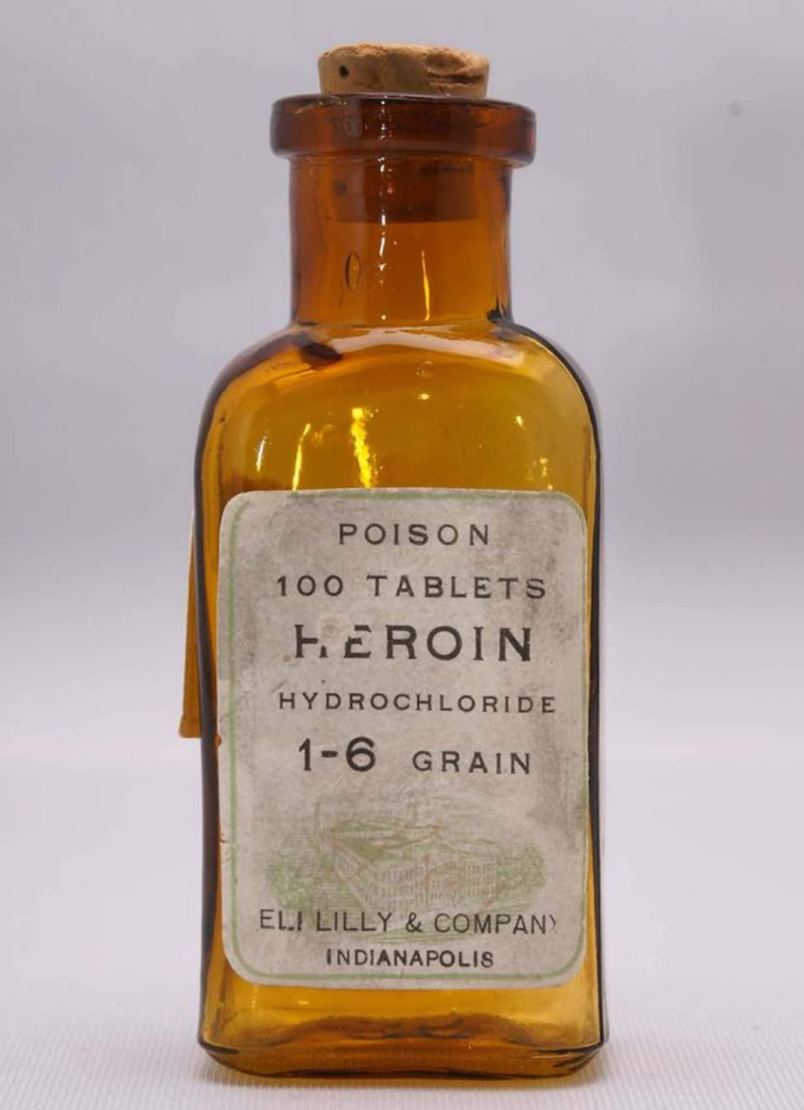 Heroin Hydrochloride. People back then really liked their heroin.