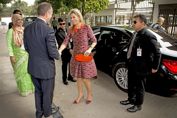 Queen Maxima a three day visit to Bangladesh. Queen Maxima of the Netherlands, also UN Secretary-General's Special advocate for Inclusive Finance for Development (UNSGSA)