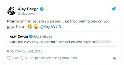 Kajol Whatsapp Number Leaked in Twitter