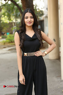 Telugu Actress Rukhsar Mir Stills in Black Long Dress at Aakatayi Movie First Look Launch  0101.JPG