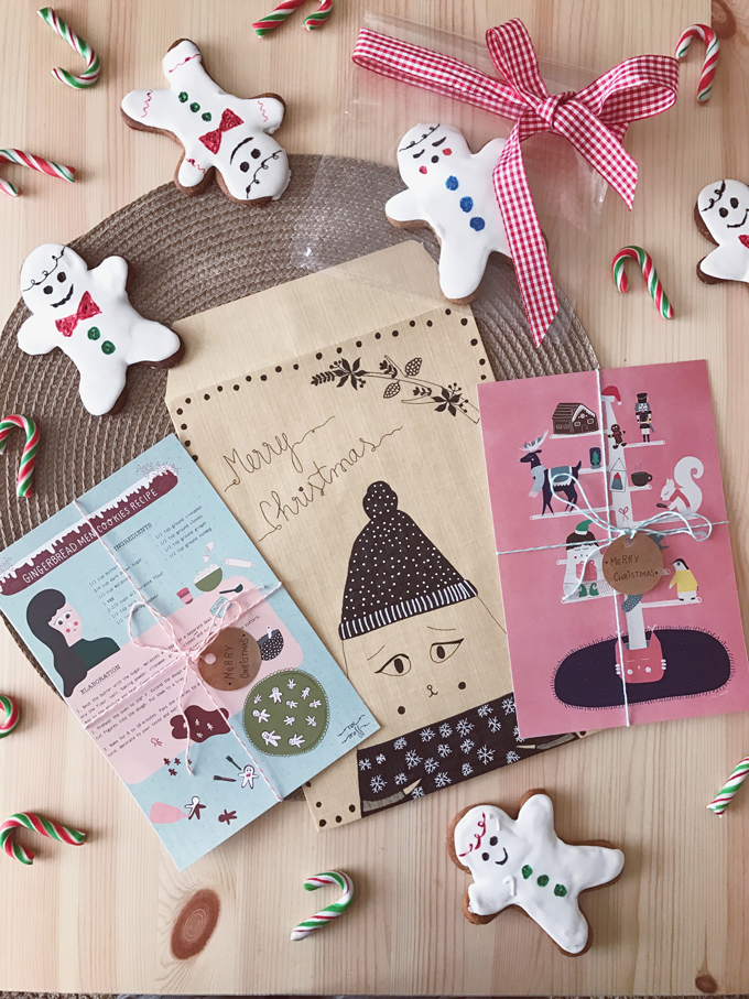 Happy mail with illustrations for Christmas