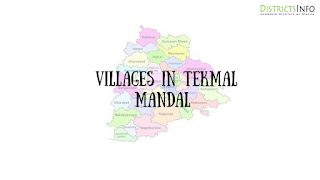 Tekmal mandal with villages
