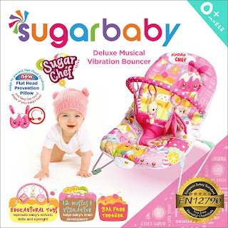 Sugar Baby Deluxe Musical Vibration Bouncer Sugar Chef