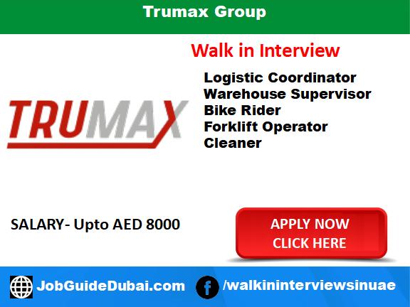 Job in dubai for warehouse supervisor, logistic coordinator, bike rider, Cleaner and forklift operator