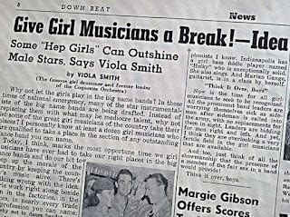 Recorte de prensa reivindicación de Viola Smith.