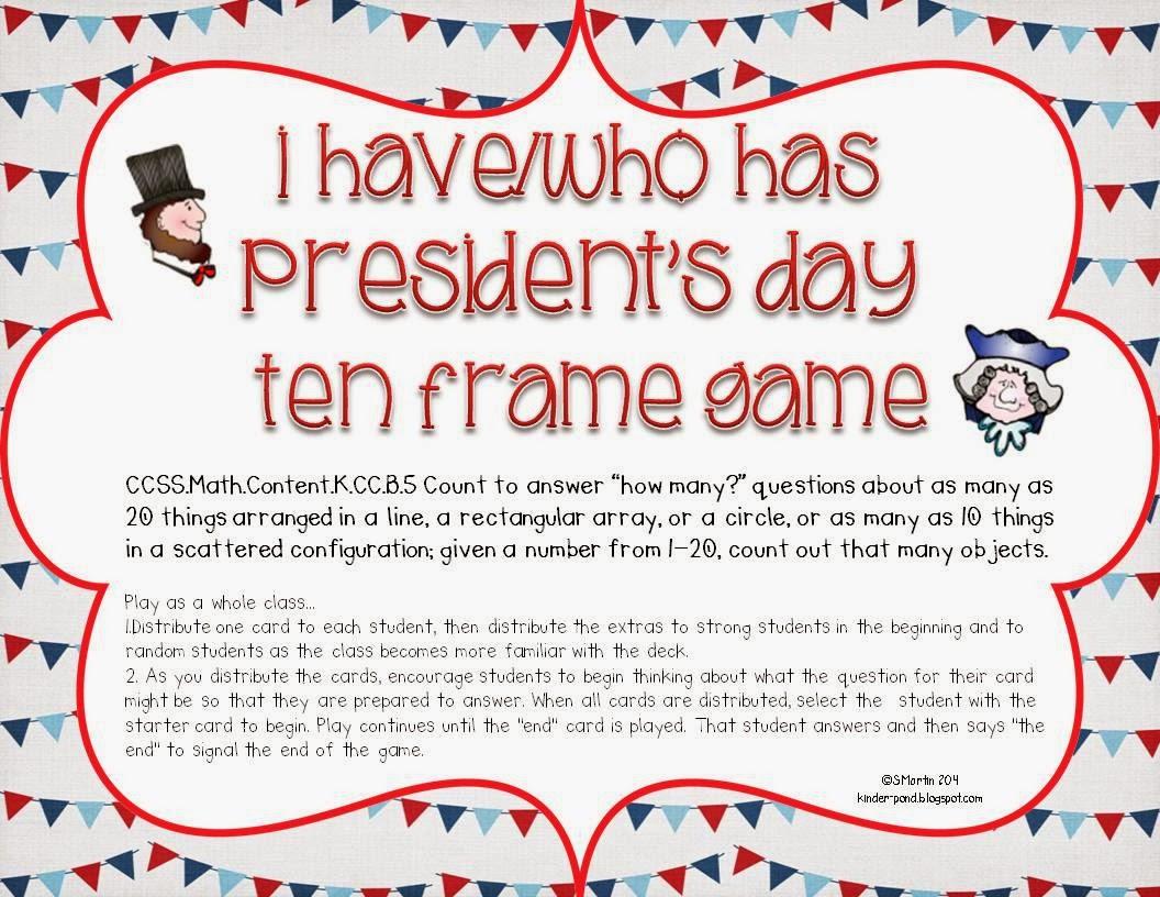 Kindergarten Hoppenings President S Day
