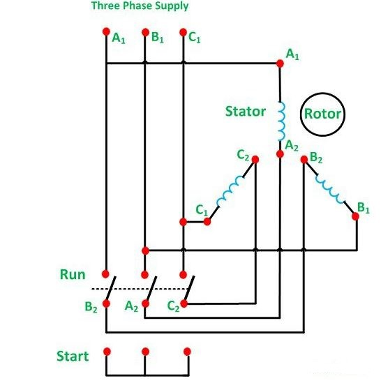 Star delta starter working electrical edition connection diagram of star delta starter ccuart Gallery