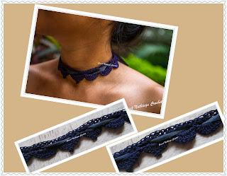 free crochet choker pattern, free crochet jewellery pattern