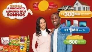 Alimenta Seus Sonhos Promoção Ajinomoto 2019 - 300 Mil Reais