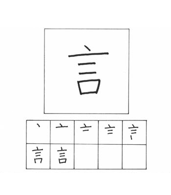 kanji berkata