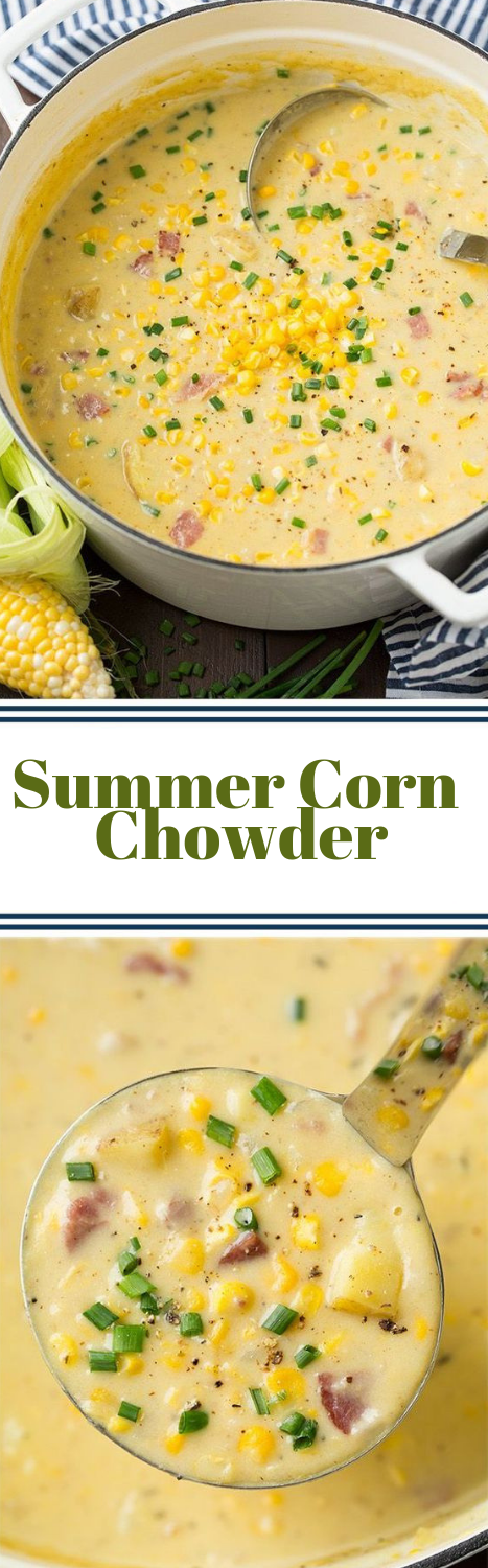 Summer Corn Chowder #vegetarian #recipe