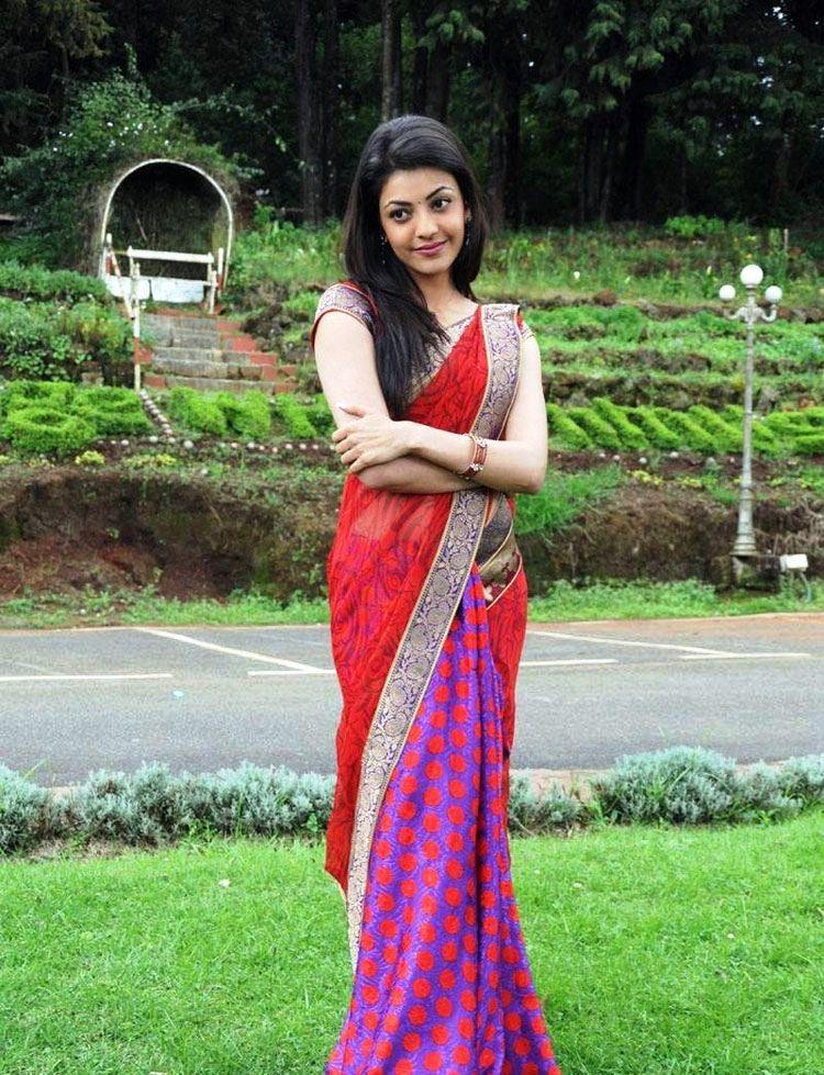 Saree Blouse Designs: South Indian Actress & Model Kajal ...