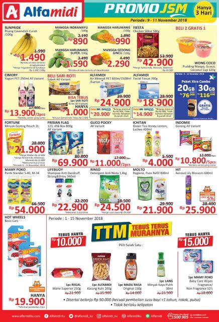 Alfamidi - Promo Katalog JSM Periode 09 - 11 Okt 2018