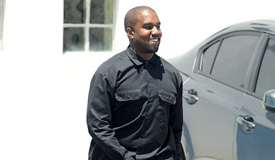 kayne west smiling